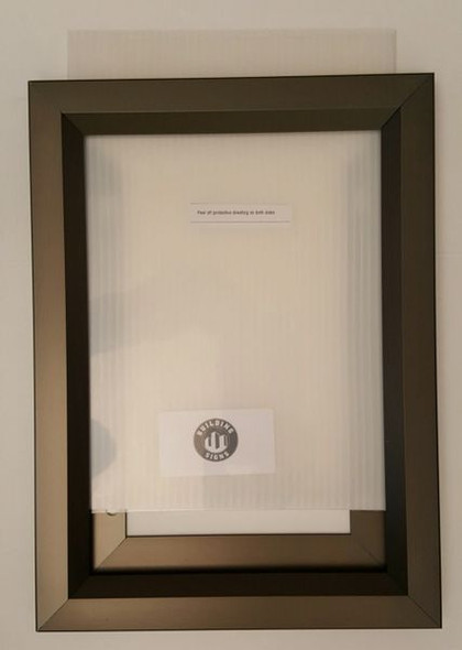 Elevator Inspection Certificate Frame  Chocolate / Antique Bronze (Heavy Duty - Aluminum) (Certificate Frame )
