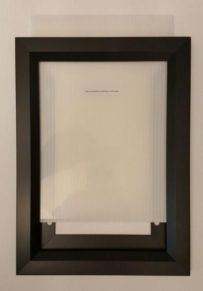 Elevator Inspection Certificate Frame  Black ( Heavy Duty - Aluminum) (Certificate Frames )