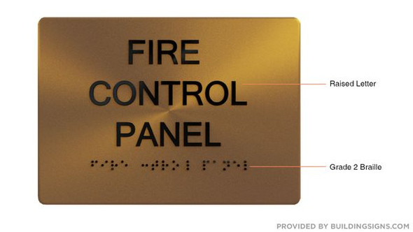 FIRE CONTROL PANEL Sign -Tactile Signs Tactile Signs - THE SENSATION LINE  Braille sign
