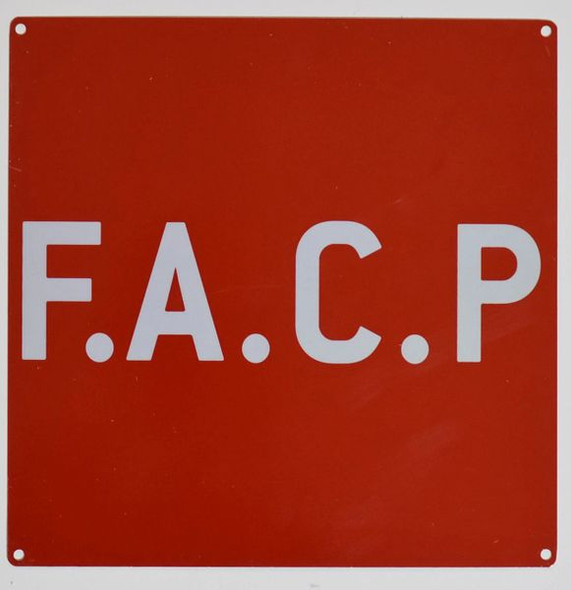 F.A.C.P. SIGN for Building