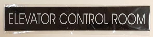 ELEVATOR CONTROL ROOM SIGN - BLACK