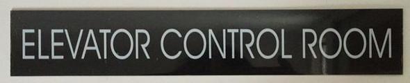 ELEVATOR CONTROL ROOM SIGNAGE - BLACK