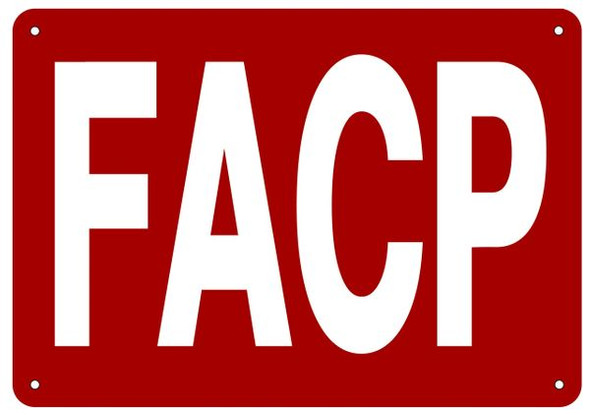 FACP SIGN