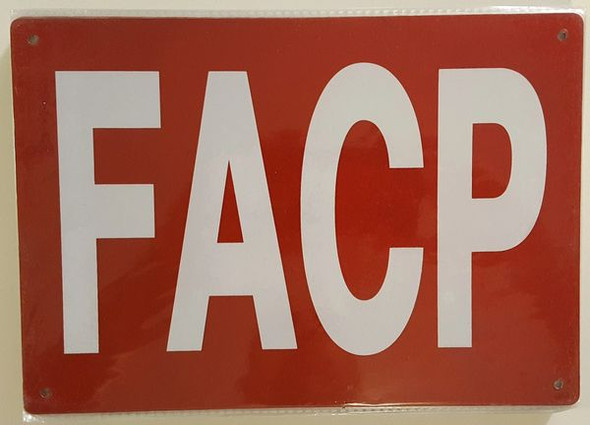 FACP SIGN Red