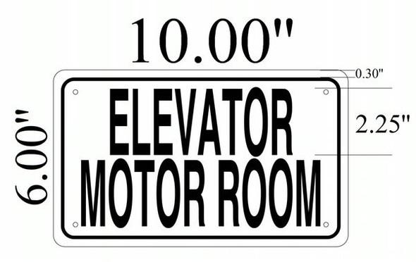 ELEVATOR MOTOR ROOM SIGNAGE- WHITE ALUMINUM