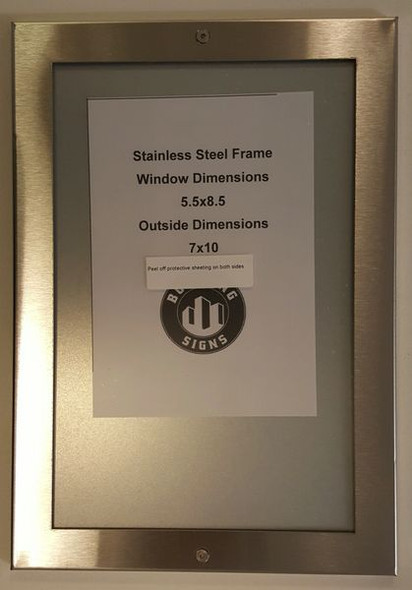 Elevator Notice frame stainless Steel (NOTICE FRAMES )