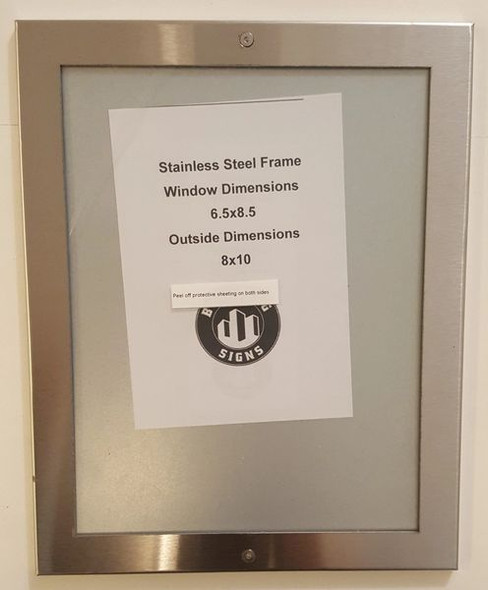ELEVATOR CERTIFICATE FRAME STAINLESS STEEL (CERTIFICATE FRAMES )