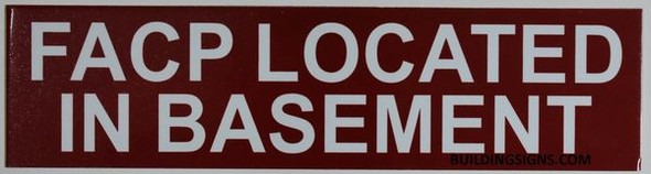 FACP LOCATED BASEMENT SIGN