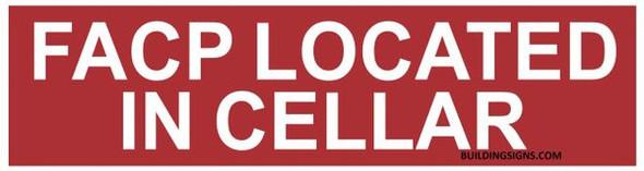 FACP LOCATED CELLAR SIGN