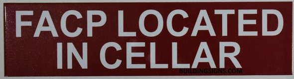FACP LOCATED CELLAR SIGN for Building