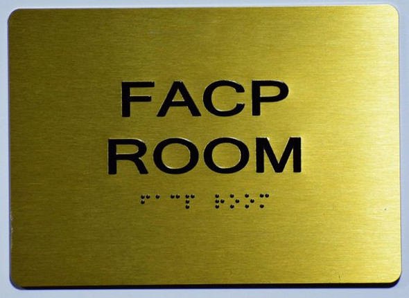 FACP Room SIGN- The Sensation line -Tactile Signs Ada sign