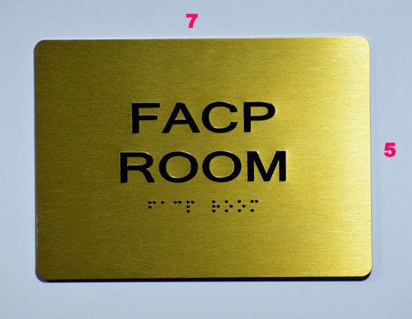 FACP Room SIGN- The Sensation line -Tactile Signs  Braille sign