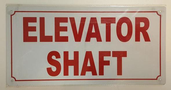 ELEVATOR SHAFT SIGNAGE- REFLECTIVE !!! (ALUMINUM SIGNAGES ) WHITE