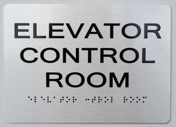 ELEVATOR CONTROL ROOM ADA-Sign -Tactile Signs The sensation line  Ada sign