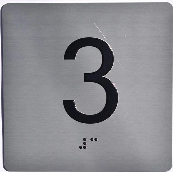 ELEVATOR JAMB- 3  Elevator sign