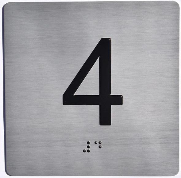 ELEVATOR JAMB- 4  Elevator sign