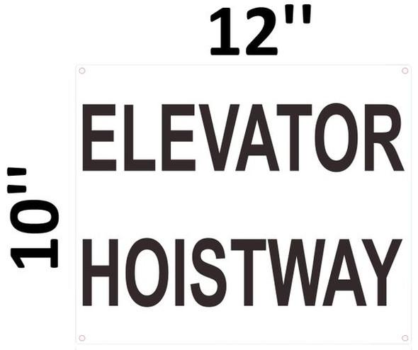 ELEVATOR HOISTWAY SIGNAGE- WHITE BACKGROUND
