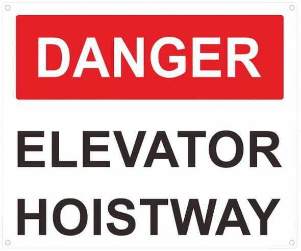 ELEVATOR HOISTWAY SIGN