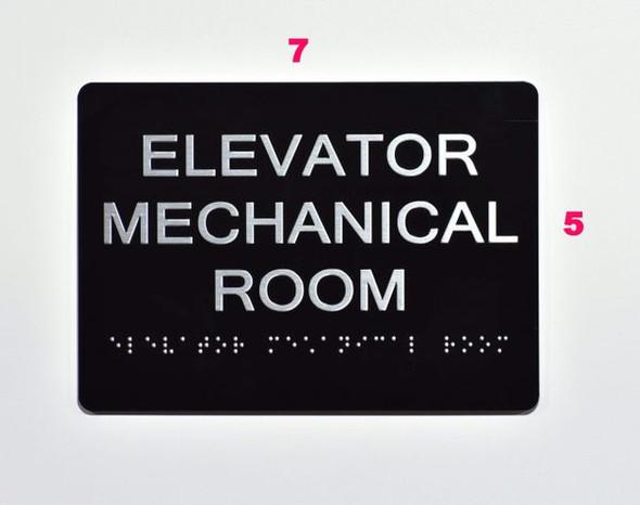 ELEVATOR MECHANICAL Sign for Building