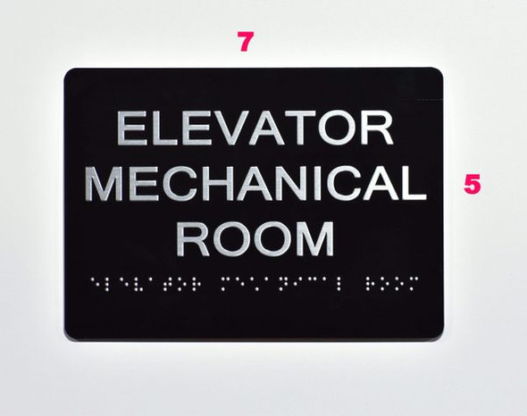 ELEVATOR MECHANICAL ROOM Sign -Tactile Signs Tactile Signs   Braille sign