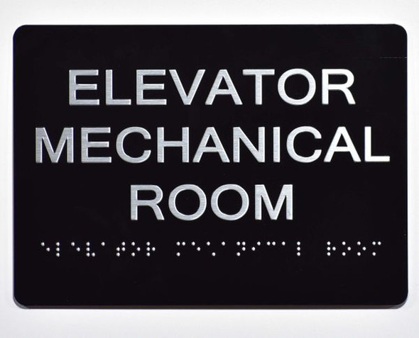 ELEVATOR MECHANICAL ROOM Sign -Tactile Signs Tactile Signs  Ada sign