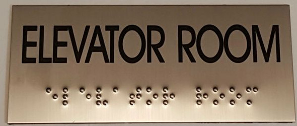 ELEVATOR ROOM Sign -Tactile Signs  Ada sign
