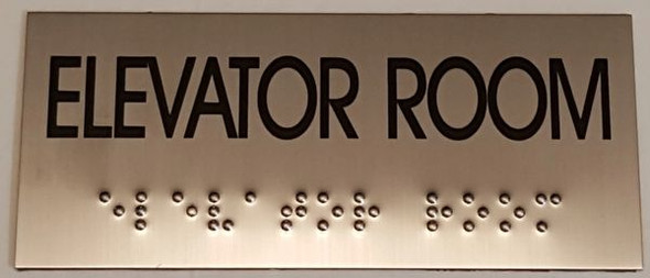 ELEVATOR ROOM Sign -Tactile Signs   Braille sign