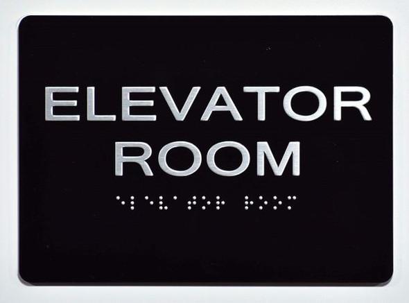 ELEVATOR ROOM SIGN - The Sensation line -Tactile Signs Ada sign