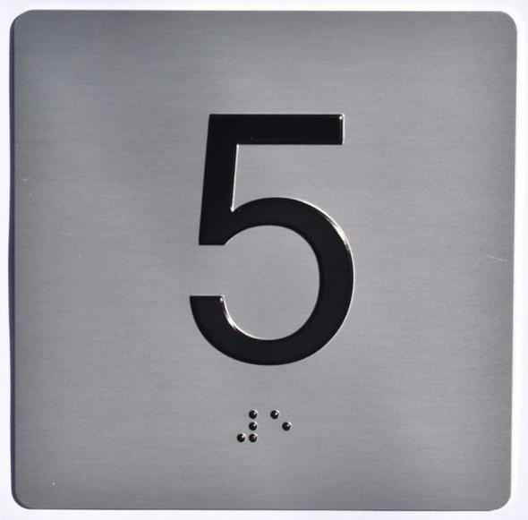 ELEVATOR JAMB-5 SIGN