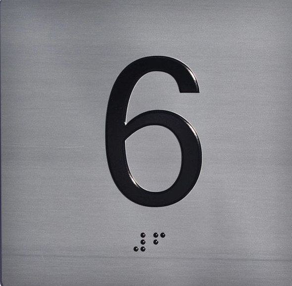 ELEVATOR JAMB-6 SIGN