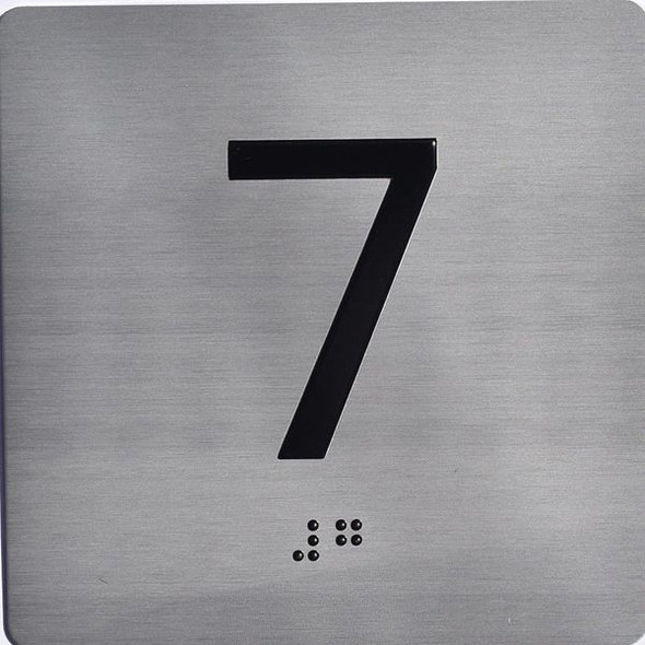 ELEVATOR JAMB-7 SIGN