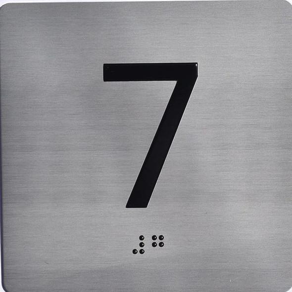 ELEVATOR JAMB- 7  Elevator sign