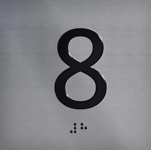 ELEVATOR JAMB-8 SIGN