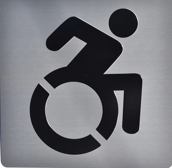 ACCESSIBLE SYMBOL Sign -Tactile Signs   Ada sign
