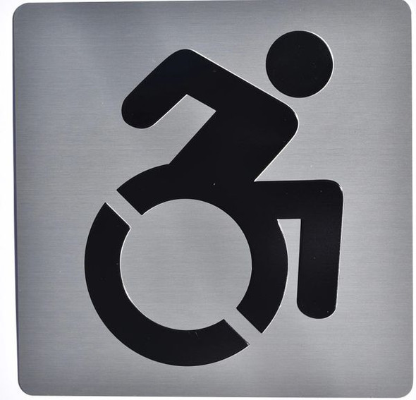 ACCESSIBLE SYMBOL Sign -Tactile Signs    Braille sign