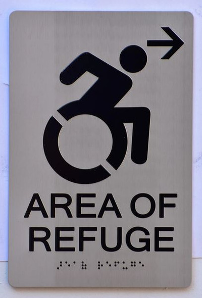 AREA OF REFUGE RIGHT SIGN