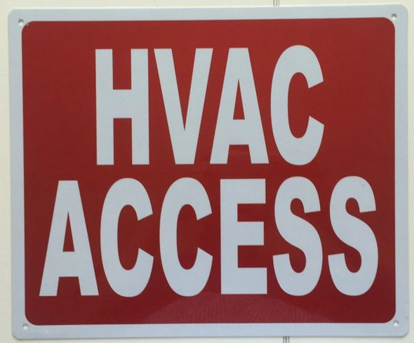 HVAC ACCESS SIGN for Building