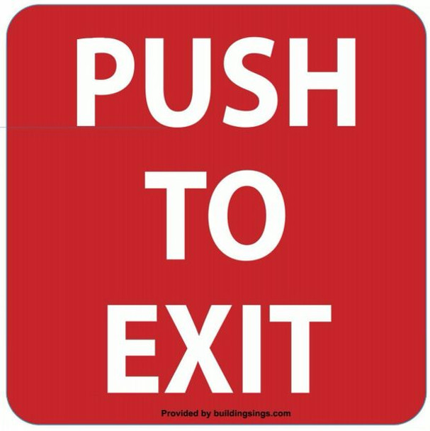 PUSH TO EXIT SIGN