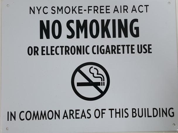 NYC SMOKE FREE ACT SIGN