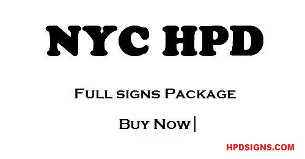 HPD required Signs Package- The Full signs Package