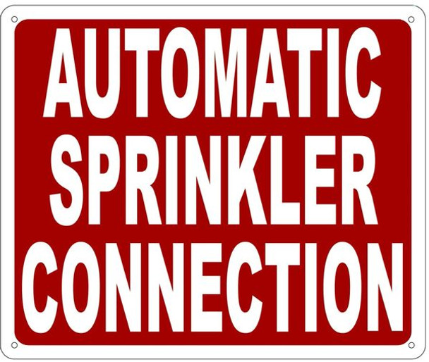AUTOMATIC SPRINKLER CONNECTION SIGN