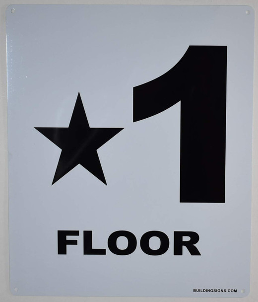 Star 1 Floor Number Sign