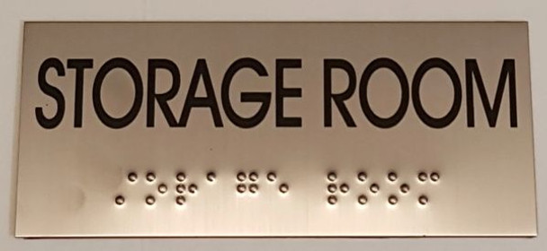STORAGE ROOM Sign -Tactile Signs  Ada sign