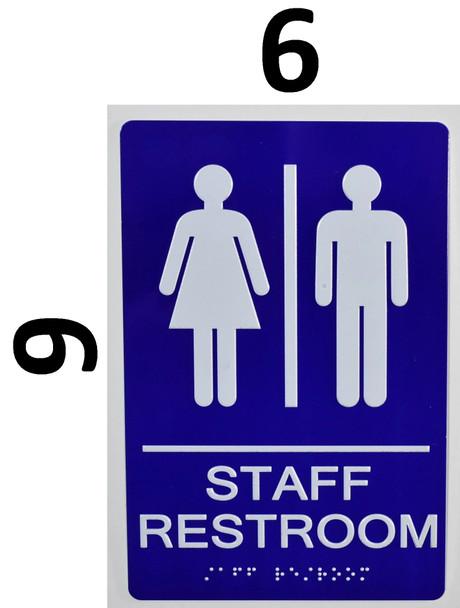 Staff Restroom - ADA Compliant Sign.