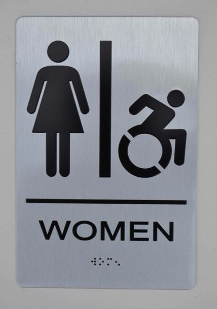WOMEN ACCESSIBLE RESTROOM ADA SIGN