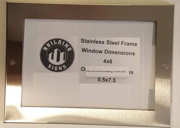 Elevator Permit Frame Stainless Steel (Heavy Duty - Aluminum)