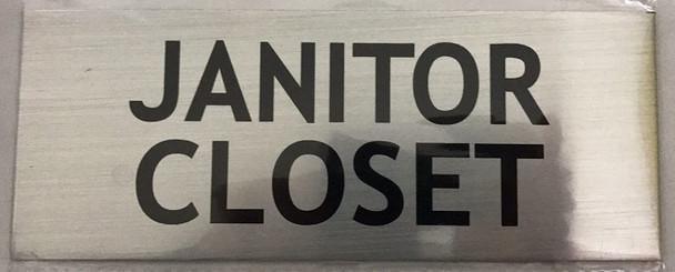 Janitor Closet Sign