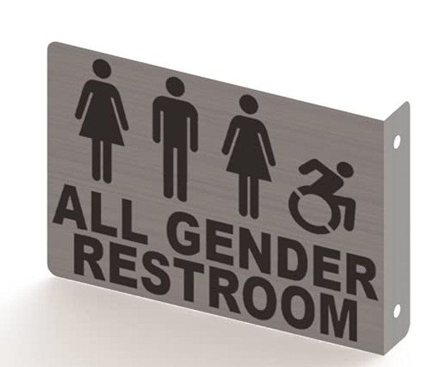 All Gender ACCESSABLE Restroom Projection Sign- All Gender ACCESSABLE Restroom