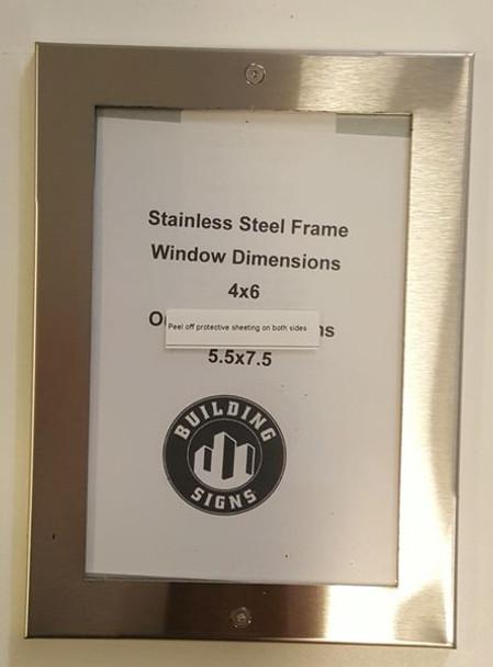 ELEVATOR FRAME STAINLESS STEEL (ELEVATOR CERTIFICATE FRAMES)