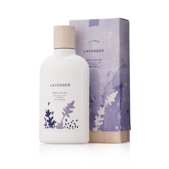 Thymes Lavender body lotion.  Beautifully boxed for gifting.